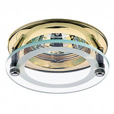Декоративный встраиваемый неповоротный светильник в стиле минимализм | 369108