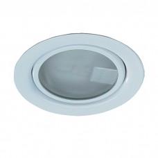 Встраиваемый неповоротный светильник с защитным стеклом (лампа в комплекте) в стиле минимализм | 369344